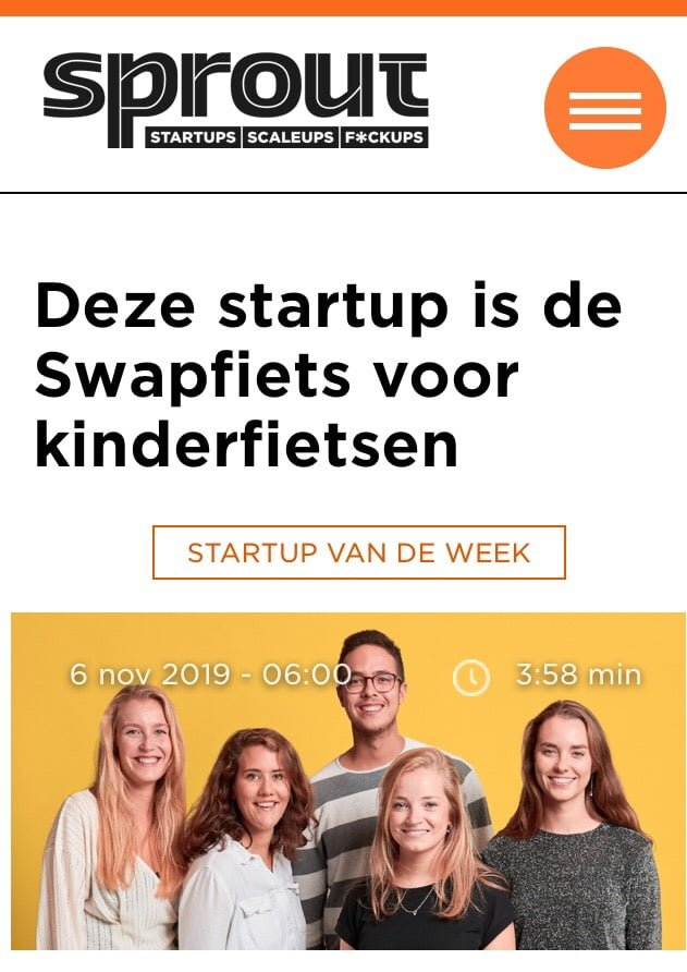 BikeFlip is start-up van de week bij Sprout!