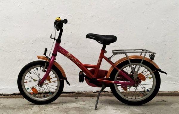 Roze 'Coolgirl-Loekie' fiets • 16.3