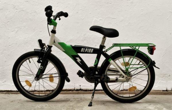 Stoere groen/zwarte fiets • 18.4