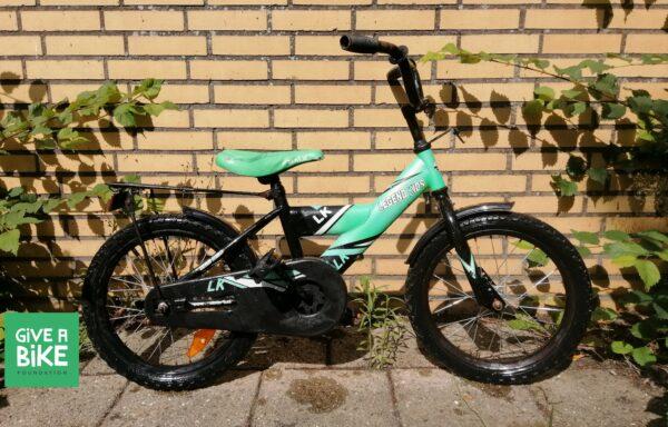 Stoere groen-zwarte fiets • 16.12