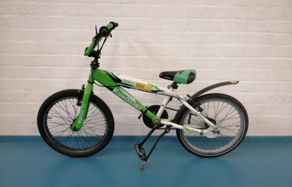 Vette gifgroene Kawasaki BMX • 20.21